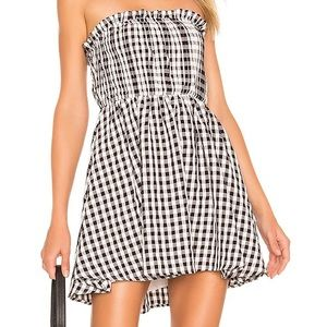 NBD- Checkered Mini Dress NWT